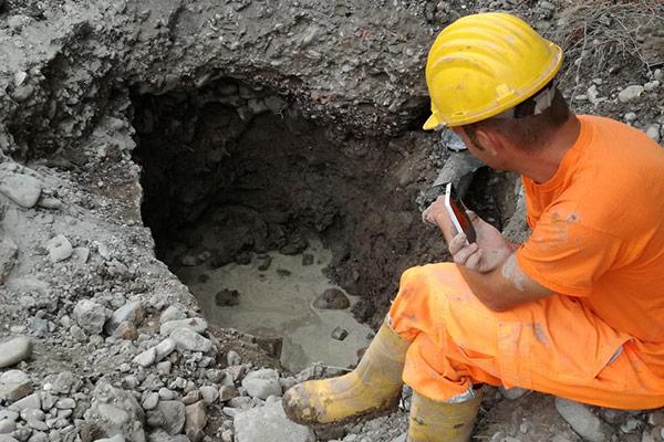 Controllo di esecuzione degli scavi e della corretta posa dei sottoservizi
