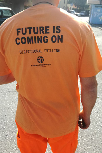 Maglietta Magro Impianti - Future is coming on
